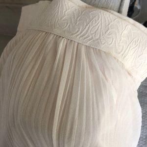 Romantic cream long skirt